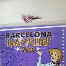 Disques de vinyle: THE HAYRIDE KINGS. BARCELONA HAYRIDE 2000. MARIO COBO JUNTO A BRIOLES. Lote 217913325