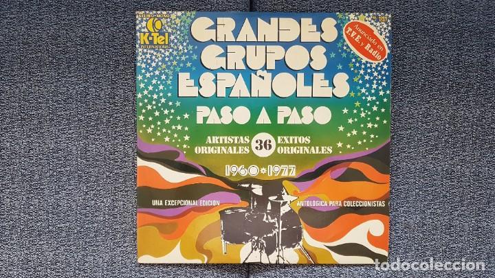 GRANDES GRUPOS ESPAÑOLES - PASO A PASO (36 ARTISTAS ORIGINALES) 1.960-1.977. EDITADO POR K-TEL (Música - Discos - LP Vinilo - Grupos Españoles 50 y 60)