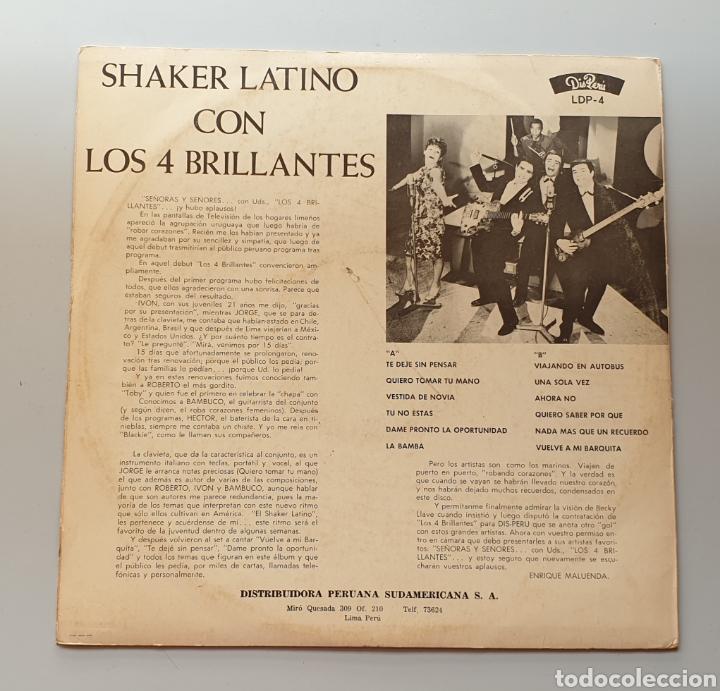 Discos de vinilo: LP LOS 4 BRILLANTES - Shaker Latino (Perú - Disperu - 1965) Top Shaker Beat Uruguay Saicos label - Foto 2 - 217936761