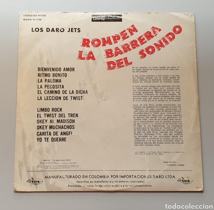 Discos de vinilo: LP LOS DARO JETS - Rompen la barrera del sonido (Colombia - Daro - 1964) Ultra Rare LP R&R Twist - Foto 2 - 217938620