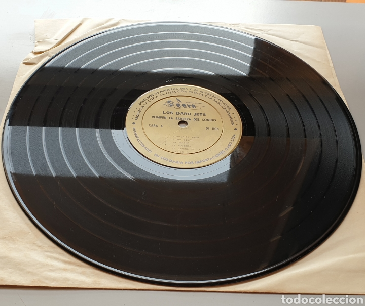 Discos de vinilo: LP LOS DARO JETS - Rompen la barrera del sonido (Colombia - Daro - 1964) Ultra Rare LP R&R Twist - Foto 3 - 217938620