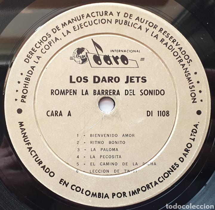 Discos de vinilo: LP LOS DARO JETS - Rompen la barrera del sonido (Colombia - Daro - 1964) Ultra Rare LP R&R Twist - Foto 4 - 217938620