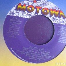 Discos de vinilo: DOC BOX & B. FRESH - SLOW LOVE - SG MOTOWN 1990 - HIP HOP FUNK 90'S - EDICION USA SIN ESTRENAR. Lote 217940278