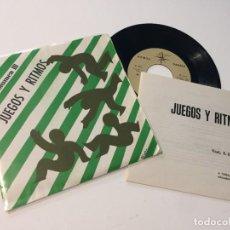 Discos de vinilo: DISCO VINILO SINGLE Y LIBRETO JUEGOS Y RITMO VOLUMEN III. Lote 217941350