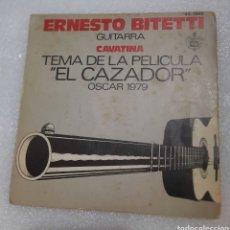 Discos de vinilo: ERNESTO BITETTI - TEMA EL CAZADOR. BSO. Lote 217955358