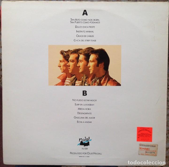 Discos de vinilo: Desperados - Tan alto como nos dejen, tan fuerte como podamos - LP Nola 1990. Edición española. - Foto 2 - 217958986