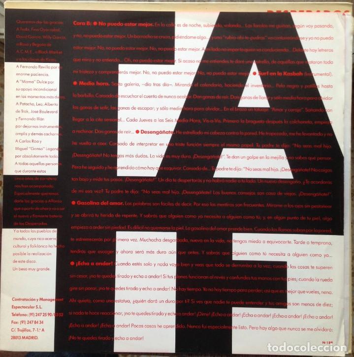 Discos de vinilo: Desperados - Tan alto como nos dejen, tan fuerte como podamos - LP Nola 1990. Edición española. - Foto 3 - 217958986