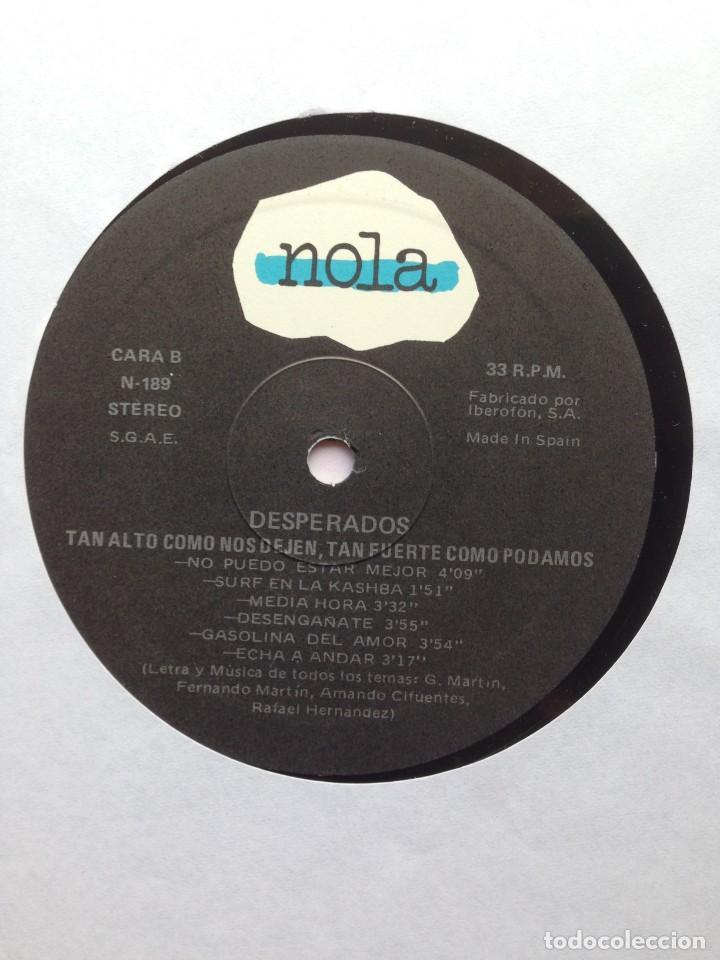 Discos de vinilo: Desperados - Tan alto como nos dejen, tan fuerte como podamos - LP Nola 1990. Edición española. - Foto 5 - 217958986