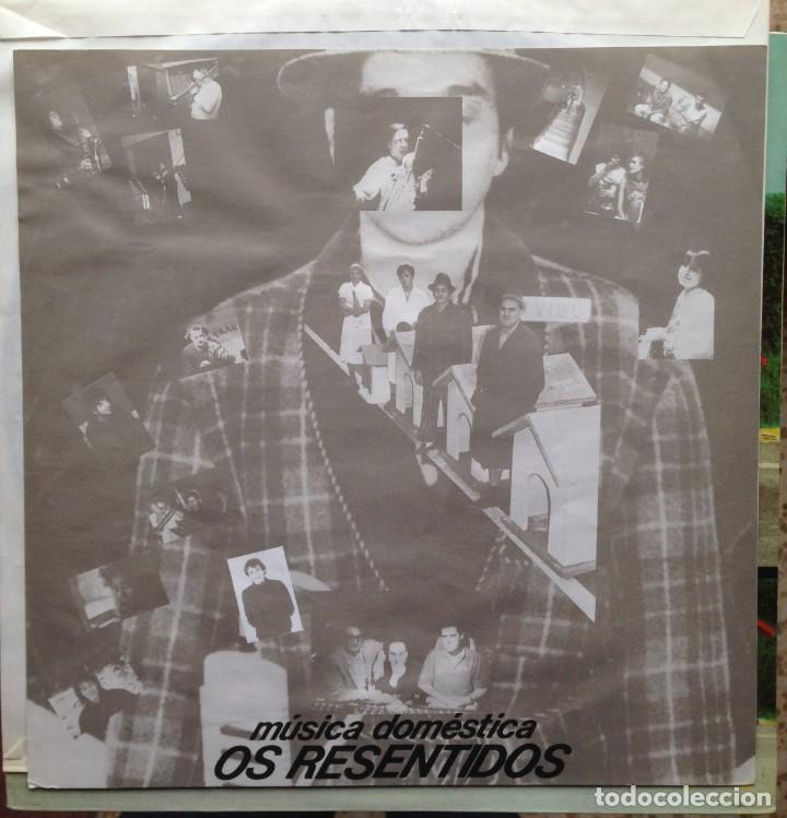 Discos de vinilo: Os Resentidos - Música doméstica. LP. Grabaciones Accidentales. Edición española. - Foto 3 - 217959212