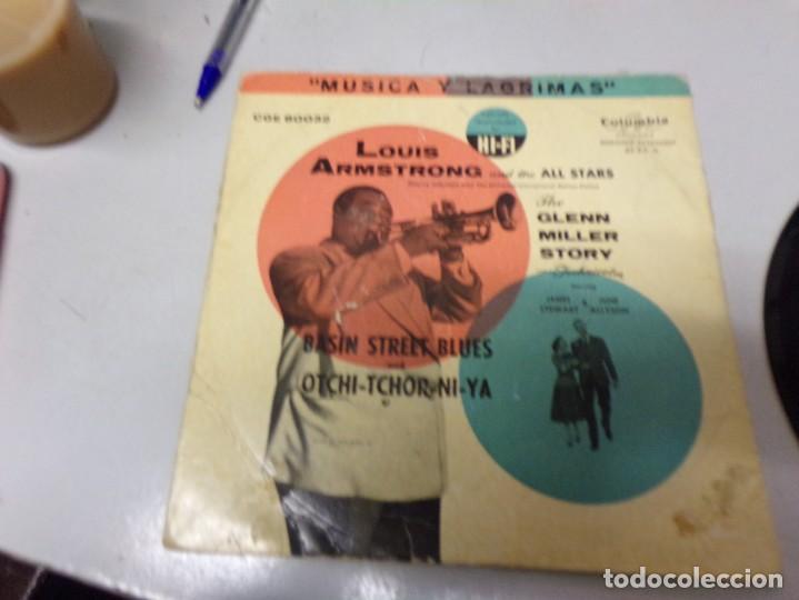 LOUIS ARMSTRONG - BASIN STREET BLUES , OTCHI - TCHOS - NI - YA (Música - Discos - Singles Vinilo - Jazz, Jazz-Rock, Blues y R&B)