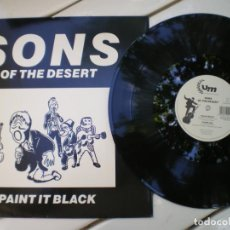 Discos de vinilo: SONS OF THE DESSERT, PAINT IT BLACK (VERSION ROLLING STONES, A LA TURCA). Lote 218003518