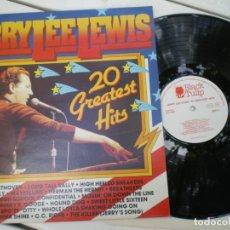 Disques de vinyle: JERRY LEE LEWIS, 20 GREATEST HITS. Lote 218004545
