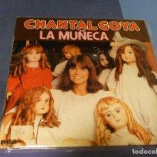 Discos de vinilo: EXPRO LP INFANTIL CON MUY TETRICA PORTADA CHANTAL GOYA LA MUÑECA. Lote 218009987