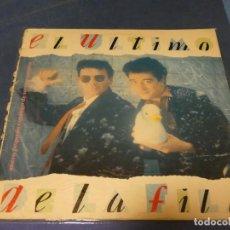 Discos de vinilo: EXPRO LP EL ULTIMO DE LA FILA NUEVO PEQUEÑO CATALOGO...BUEN ESTADO, INSERT PEGATA ATRAS. Lote 218010300