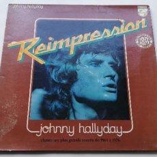 Discos de vinilo: SJ1- JOHNNY HALLYDAY REIMPRESION -VINILO ( LP) - PORTADA G / DISCO VG. Lote 218012136