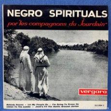 Discos de vinilo: EP LES COMPAGNONS DU JOURDAIN - NEGRO SPIRITUALS - SPAIN - 1963 - VERGARA - 53.3.004 C. Lote 218023346