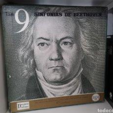 Discos de vinilo: CAJA CON 7 VINILOS LAS 9 SINFONÍAS DE BEETHOVEN. Lote 218026315