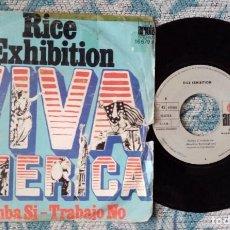 Discos de vinilo: SINGLE RICE EXHIBITION. Lote 218026813