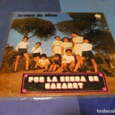 Discos de vinilo: EXPRO RARO LP BROTES DE OLIVO FOLK CRISTIANO 1974 PAX BUEN ESTADO. Lote 218030315