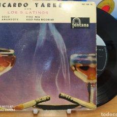 Discos de vinilo: RICARDO YARKECONLOS CINCO LATINOS–SOLO / AMANDOTE / VIDA MIA / ALGO PARA RECORDAR. Lote 218031286