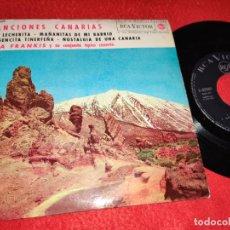 Discos de vinilo: LITA FRANKIS FRANQUIS & CONJUNTO TIPICO SOY LECHERITA/VIRGENCITA TINERFEÑA +2 EP 1963 RCA CANARIAS. Lote 218033062