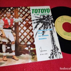Discos de vinilo: TOTOYO Y SU TIMPLE CAMINITO DE TEROR/FOLIAS/ISA CANARIA/MAZURCA EP 1963 IBEROFON CANARIAS. Lote 218033786