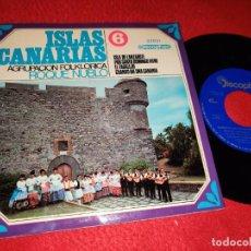 Discos de vinilo: ROQUE NUBLO ISLA DE LANZAROTE/EL ZAGALEJO +2 EP 1968 CANARIAS FOLK VOL.6 TRADICIONAL FOLK. Lote 218035646