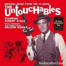 Discos de vinilo: THE UNTOUCHABLES * LP 180G HD VIRGIN VINYL COLOR ROJO TRANSLÚCIDO LOS INTOCABLES SERIE TV PRECINTADO. Lote 218035927