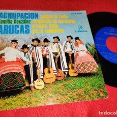 Discos de vinilo: FAMILIA GONZALEZ ARUCAS CAMINO DE TUNTE/VIRGENCITA DE LAS NIEVES +2 EP 1969 COLUMBIA CANARIAS. Lote 218036610