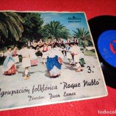 Discos de vinilo: ROQUE NUBLO ISLAS CANARIAS/CABRA LOCA/LA PERLA/SANTO DOMINGO EP 1963 ALHAMBRA CANARIAS. Lote 218036852
