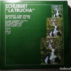 Discos de vinilo: SCHUBERT LA TRUCHA QUINTETO CON PIANO EN LA MAYOR, OP. 114 LP VINILO 1971 PHILIPS ESPAÑA - NM. Lote 218048323
