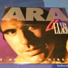 Discos de vinilo: EXPRO DOBLE LP LLUIS LLACH ARA 1992 MUY BUEN ESTADO GENERAL. Lote 218054222