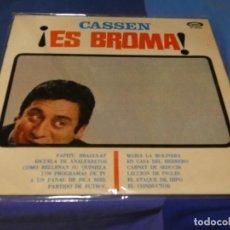 Discos de vinilo: EXPRO LP DEL HUMORISTA CATALAN CASSEN ES BROMA ESTADO MAS QUE NOTABLE 1967. Lote 218054513