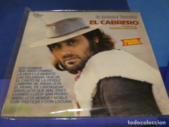 EXPRO LP FLAMENCO EL CABRERO A PASO LENTO OLIVO 1979 MUY BUEN ESTADO (Música - Discos de Vinilo - Singles - Pop - Rock Extranjero de los 80)