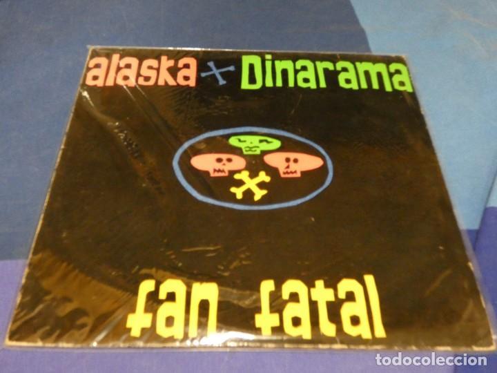 EXPRO DOBLE LP ALASKA Y DINARAMA FAN FATAL UNA CARA CON LINEA FEA PERO MUY LEVE TODO LO DEMAS GUAY (Música - Discos de Vinilo - Singles - Pop - Rock Extranjero de los 80)
