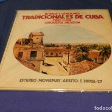 Discos de vinilo: EXPRO DOBLE LP MOVIEPLAY 1972 TIMOS Y CANCIONES TRADICIONALES CUBA ACUSA USO LINEAS LEVES TOLERABLE. Lote 218056980