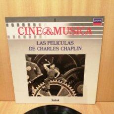 Discos de vinilo: TIEMPOS MODERNOS. EL GRAN DICTADOR. CANDILEJAS. ETC. CHARLES CHAPLIN.. Lote 218061953