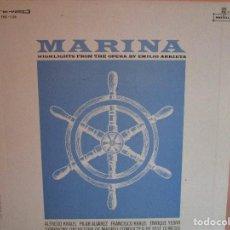 Discos de vinilo: LP DE USA MARINA BY EMILIO ARRIETA : ALFREDO KRAUS , PILAR ALVAREZ , ENRIQUE YEBRA , VER FOTOS. Lote 218071858