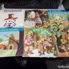 Discos de vinilo: LOTE 6 DISCOS VINILOS CUENTOS Y MUSICA INFANTIL (DETALLES EN DESCRIPCIÓN). Lote 218072585