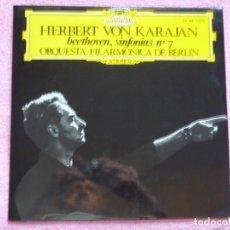Discos de vinilo: HERBERT VON KARAJAN,BEETHOVEN SINFONIA Nº 7 EDICION ESPAÑOLA DEL 66. Lote 218074096