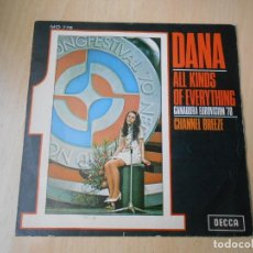 Discos de vinilo: DANA - EUROVISION 70 -, SG, ALL KINDS OF EVERYTHING + 1, AÑO 1970. Lote 218078267