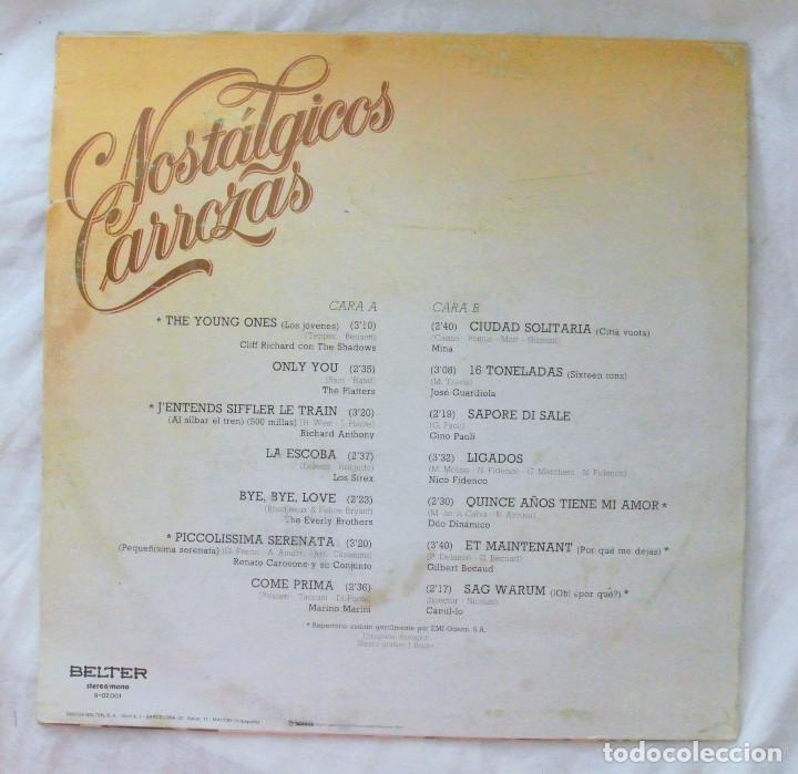 Discos de vinilo: NOSTALGICAS CARROZAS, RECOPILATORIO, DISCO VINILO LP , BELTER , 1981 - Foto 2 - 218080920