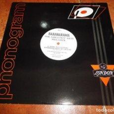 Discos de vinilo: BANANARAMA THE GREATEST HITS MEGAMIX MAXI SINGLE VINILO PROMO DEL AÑO 1988 UK 2 TEMAS. Lote 218081173