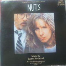 Discos de vinilo: BARBRA STREISAND MAXI-SINGLE SELLO CBS DE LA BANDA SONORA DE LA PELÍCULA NUTS EDITADO EN HOLANDA..... Lote 218082993