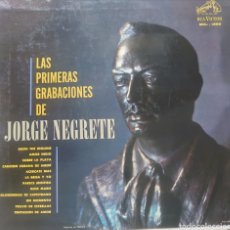 Discos de vinilo: JORGE NEGRETE LP SELLO RCA VÍCTOR EDITADO EN MÉXICO.... Lote 218084685