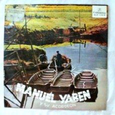Discos de vinilo: MANUEL YABEN Y SU ACORDEON, REPERTORIO VASCO PUBLICADO EN 33 1/3 R.P.M, DISCO VINILO LP , 1966. Lote 218088813