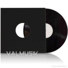 Discos de vinilo: 25 CARPETAS FUNDAS GENÉRICAS DE CARTÓN NEGRO PARA DISCOS DE VINILO LP Y MAXISINGLE | ENVÍO DOMICILIO. Lote 149540486