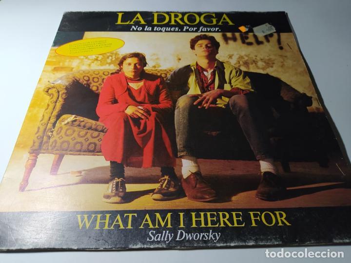 MAXI - SALLY DWORSKY ?– WHAT AM I HERE FOR - MX-223 ( VG+ / VG+) SPAIN 1990 (Música - Discos de Vinilo - Maxi Singles - Solistas Españoles de los 70 a la actualidad)