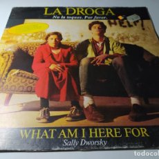 Discos de vinilo: MAXI - SALLY DWORSKY ?– WHAT AM I HERE FOR - MX-223 ( VG+ / VG+) SPAIN 1990. Lote 218095633