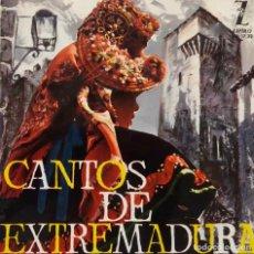 Discos de vinilo: CANTOS DE EXTREMADURA. RONDALLA Y COROS CALASANCIO. E. CASTILLO. JOTA DE BADAJOZ + 5. EP CON LIBRETO. Lote 218096840
